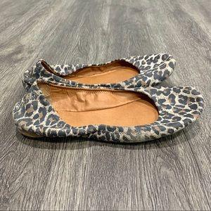 Lucky Brand Emmie Persian Leopard Print Flats